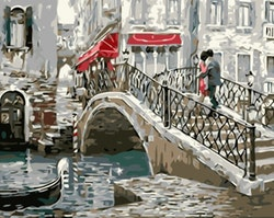 Paint By Numbers Lovers Bridge 40x50