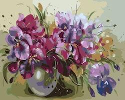 Paint By Numbers Sommarbukett I Vas 40x50