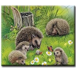 Diamanttavla (R) Hedgehog Family 40x50