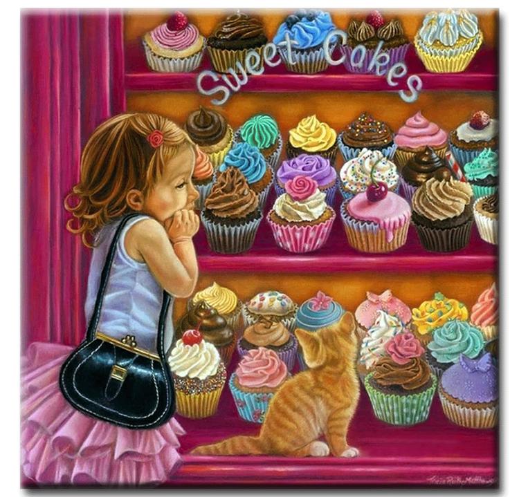 Diamanttavla Sweet Cookies 70x70
