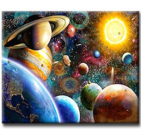 Diamanttavla Planet Universe 40x50