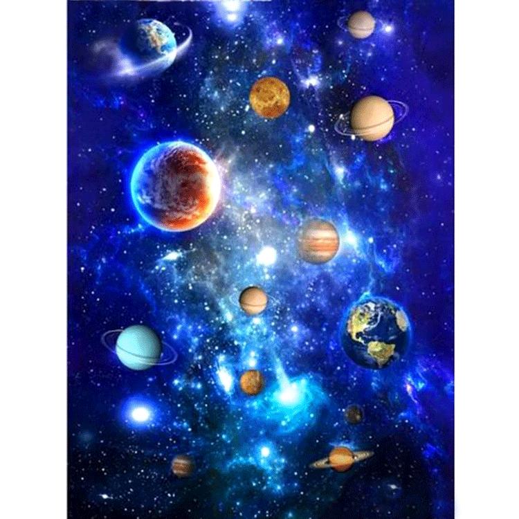 Diamanttavla Planets 50x70