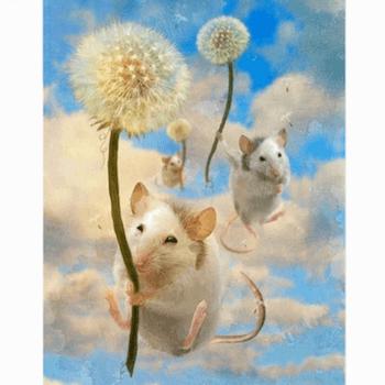 Diamanttavla Dandelion Mouse 30x40