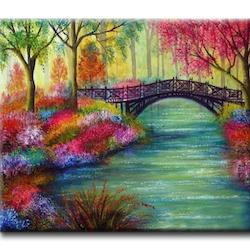 Diamanttavla (R) Forest Tree Bridge 50x70