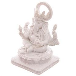 White Ganesh 13,5 cm - Leveranstid 1-3 Dagar