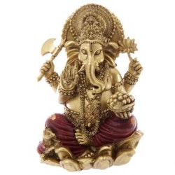 Gold And Red Ganesh 16 cm