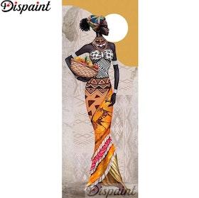 Diamanttavla African Beauty 40x120