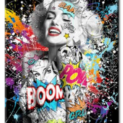 Diamanttavla Grafitti Marilyn Monroe 50x70