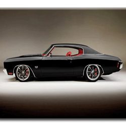 Diamanttavla Black Car 50x70
