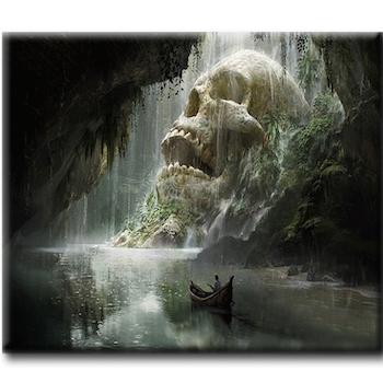 Diamanttavla Skull Cave 50x70