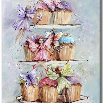 Diamanttavla Fairy Cupcake 50x70