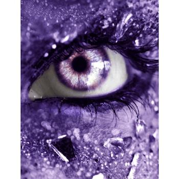 Diamanttavla Purple Ice Eye 40x50