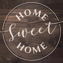 Diamanttavla Home Sweet Home 40x40