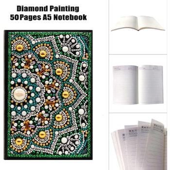 Skrivbok Linjerad Mandala Green 50 sidor