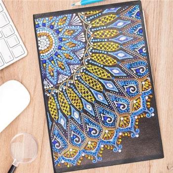 Skrivbok Olinjerad Mandala Yellow And Blue 50 Sidor