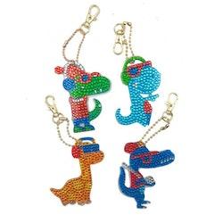 Nyckelringar Cool Dinos 4 pack
