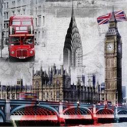 Diamanttavla (R) London In Pictures 50x50