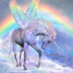 Diamanttavla (R) Unicorn And Rainbow 50x50