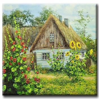 Diamanttavla Garden Cottage 50x50