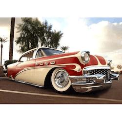 Diamanttavla American Car 80x120