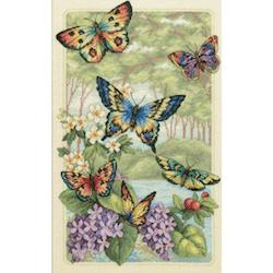 Diamanttavla Beautiful Butterflies 50x70