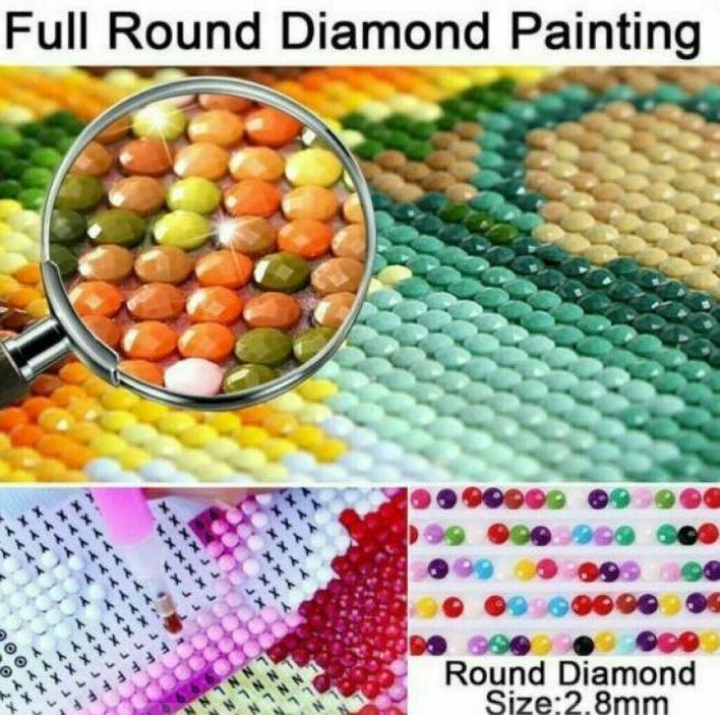 Diamanttavla Raindrop Rose 30x40