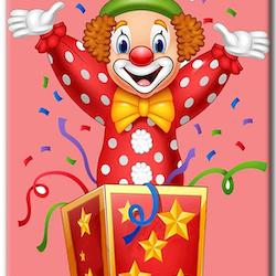 Diamanttavla (R) Clown In Box 40x50