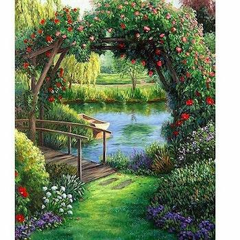 Diamanttavla Flower Bridge 40x50