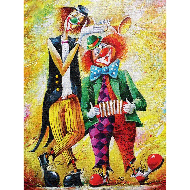 Diamanttavla (R) Music Clowns 40x50