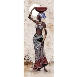 Diamanttavla African Beauty 40x120 II