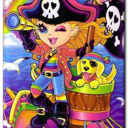 Diamanttavla (R) Pirategirl And Dog 40x50