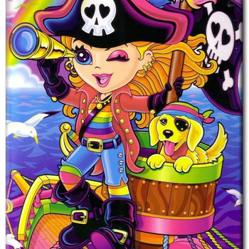 Diamanttavla (R) Pirategirl And Dog 40x50 - Leveranstid 1-3 Dagar