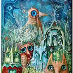 Diamanttavla Funny Birds 40x50