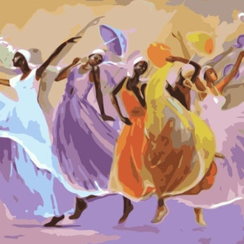 Paint By Numbers Happy Dancing 50x70