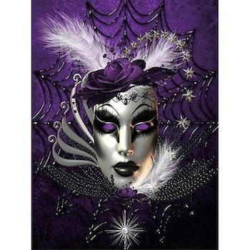 Diamanttavla (R) Purple Mask 40x50 - Leveranstid 1-3 Dagar