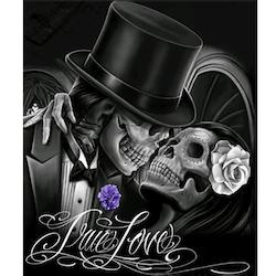 Diamanttavla Skull Love 40x50