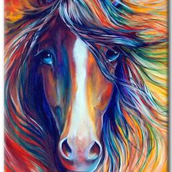 Diamanttavla Color Horse 40x50
