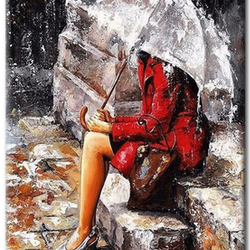 Paint By Numbers Girl Under Umbra 40x50
