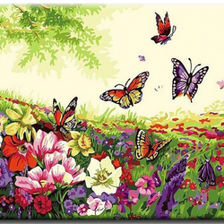 Paint By Numbers Butterflies 40x50