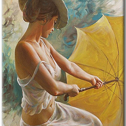 Paint By Numbers Umbrella Woman 40x50