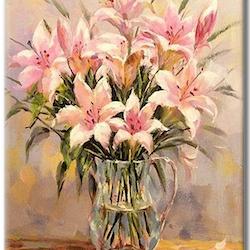 Paint By Numbers Liljor I Kanna 40x50