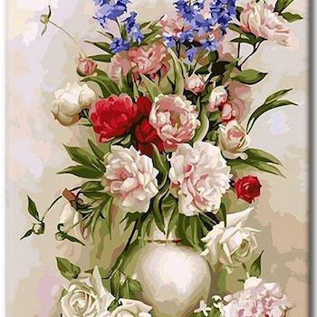 Paint By Numbers Pionbukett 40x50