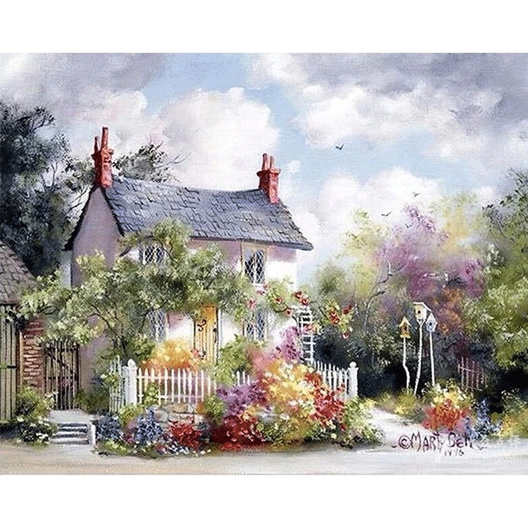 Paint By Numbers The Little House 40x50