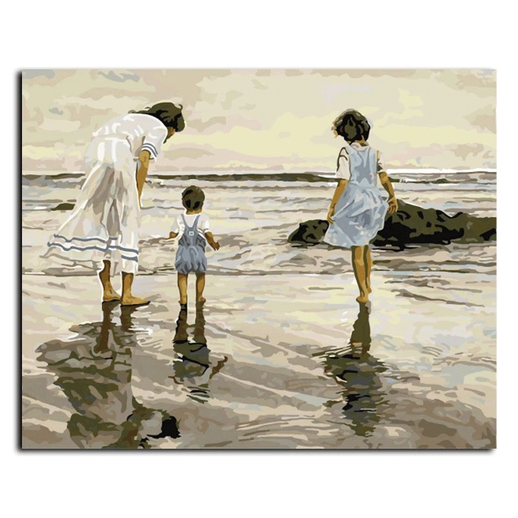 Paint By Numbers Family Beach 40x50