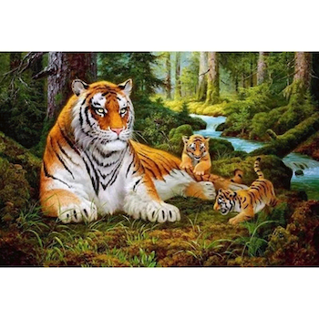 Paint By Numbers Tigerfamily 40x50
