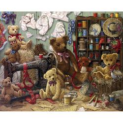 Diamanttavla (R) Teddybears Sewing 70x90 - Leveranstid 1-3 Dagar