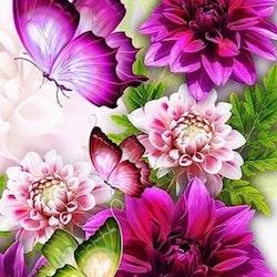 Diamanttavla Summer Butterflies 30x40