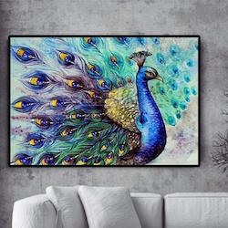Diamanttavla (R) Peacock 60x80