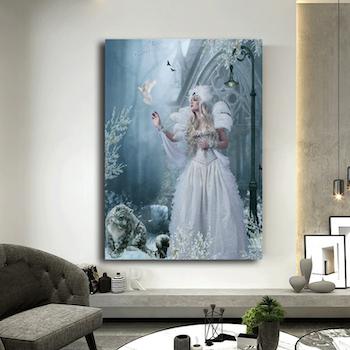 Diamanttavla Snow Fairy 70x90
