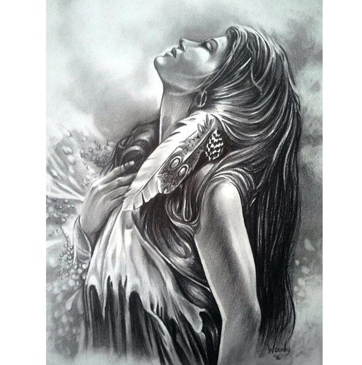 Diamanttavla (R) Indiankvinna 50x70